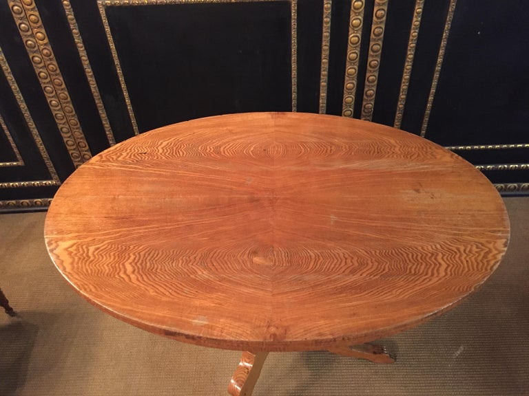 Woodwork Original Biedermeyer Table with 4 Chairs circa 1850 Ashwood For Sale