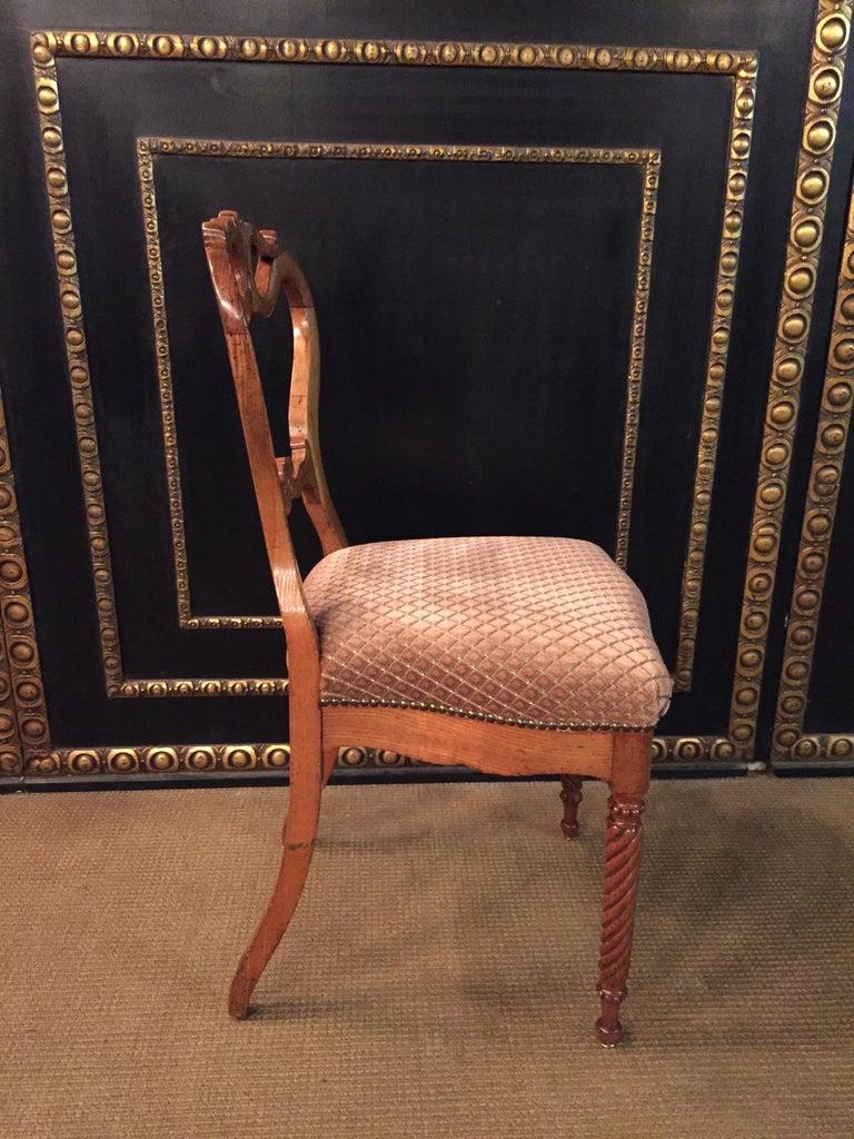 Original Biedermeyer Table with 4 Chairs circa 1850 Ashwood For Sale 2