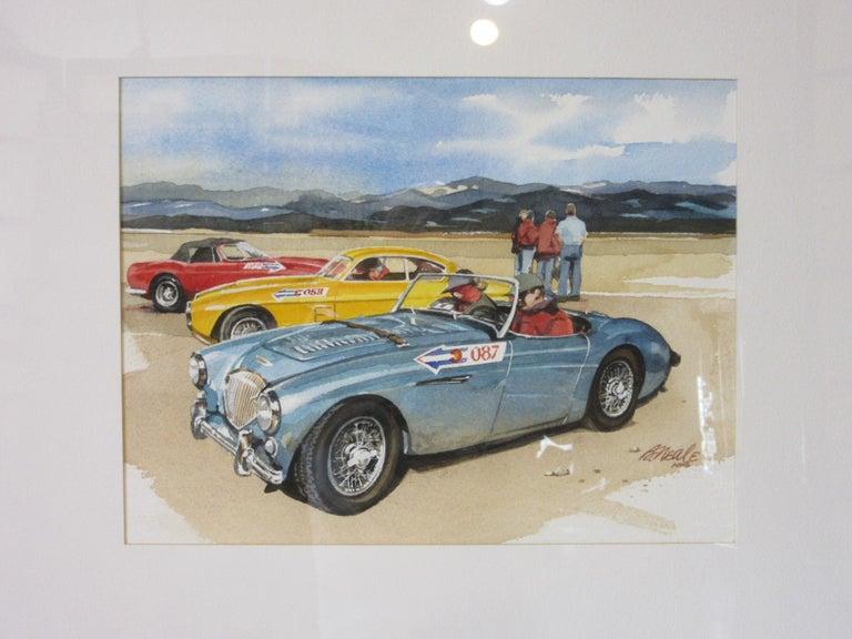American Original Bill Neale Austin Healey 3000 Automotive Watercolor Listed Artist AFAS For Sale
