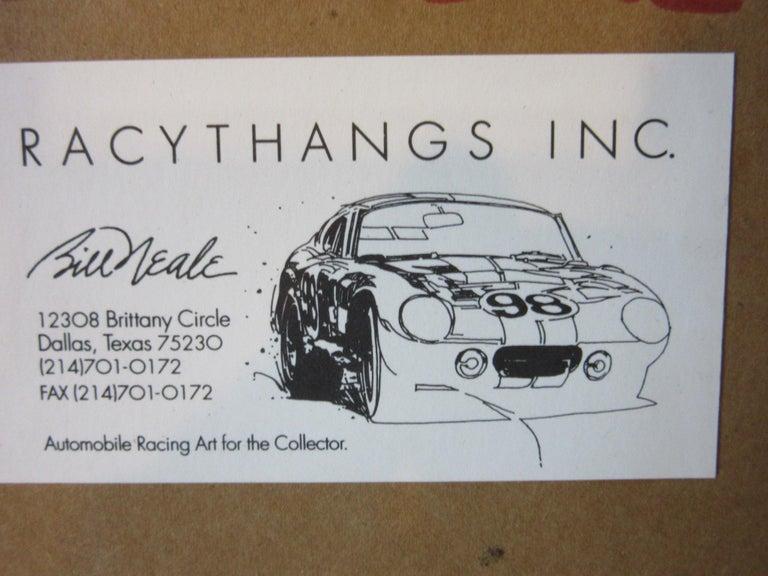 Paper Original Bill Neale Austin Healey 3000 Automotive Watercolor Listed Artist AFAS For Sale