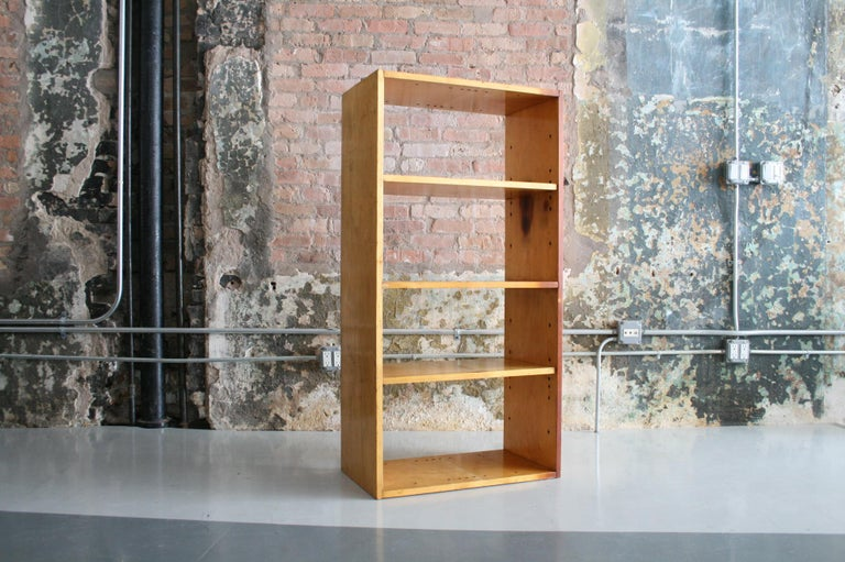 Mid-Century Modern Original Birch Bookcase by Chicago Architect Harry Weese for Artek, 1948 For Sale
