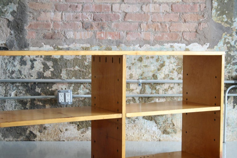 Original Birch Bookcase by Chicago Architect Harry Weese for Artek, 1948 In Good Condition For Sale In Chicago, IL