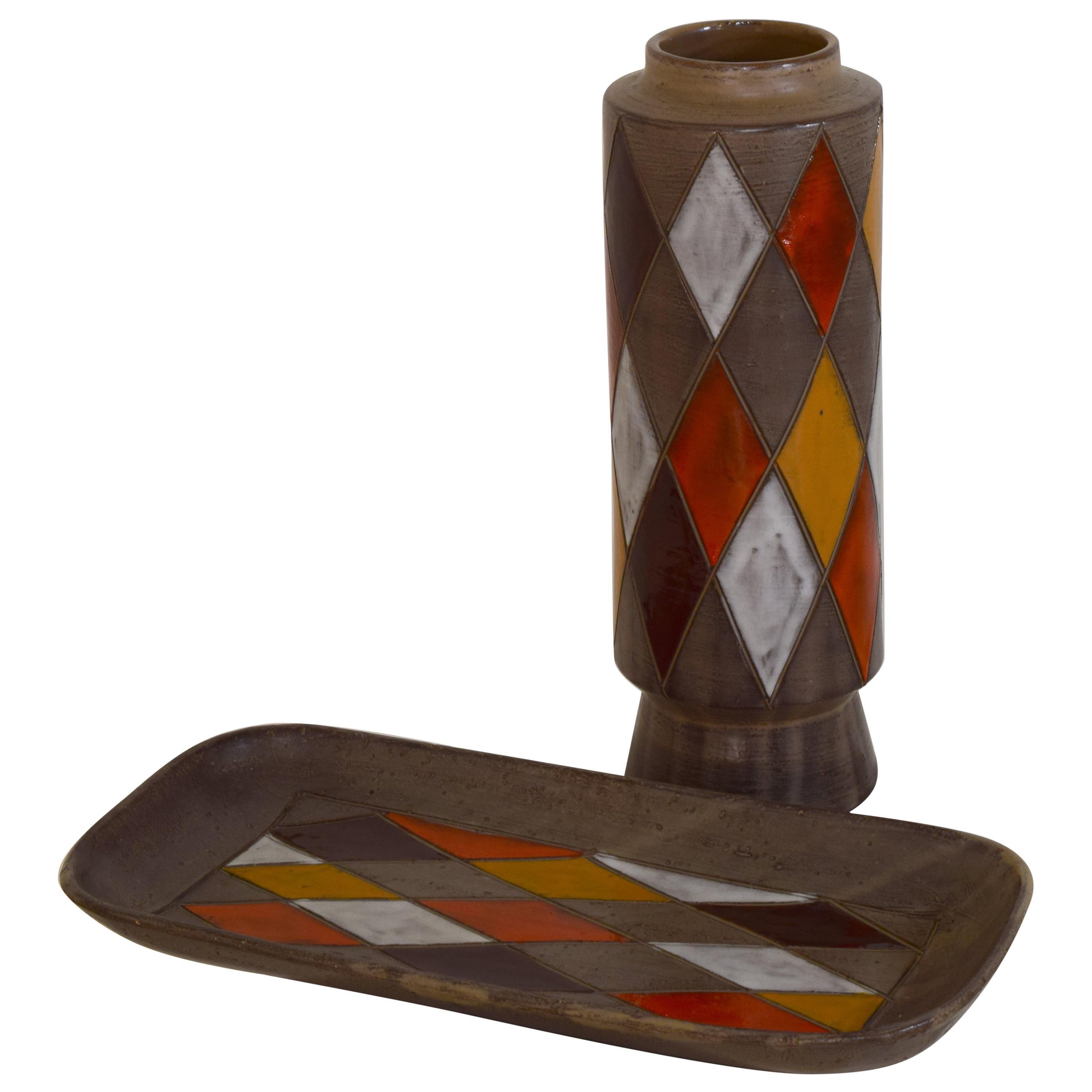 Original Bitossi 1960s set of pottery