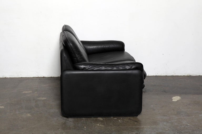 Mid-Century Modern Original Black Leather Recliner Chair from De Sede, Model DS-50, Switzerland For Sale