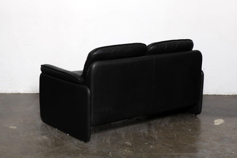 Swiss Original Black Leather Recliner Chair from De Sede, Model DS-50, Switzerland For Sale
