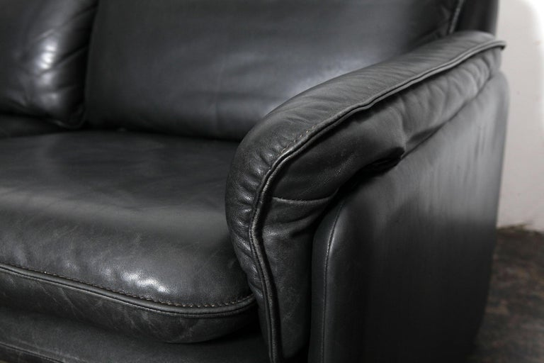 Original Black Leather Recliner Chair from De Sede, Model DS-50, Switzerland For Sale 1