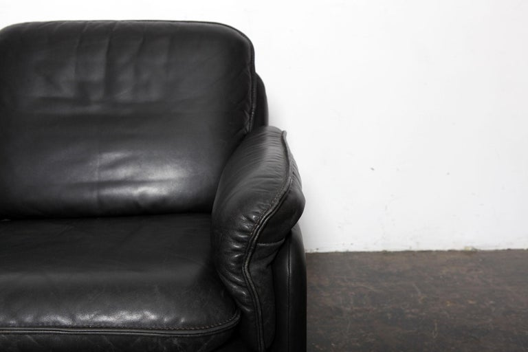Original Black Leather Recliner Chair from De Sede, Model DS-50, Switzerland For Sale 2