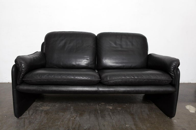 Original Black Leather Recliner Chair from De Sede, Model DS-50, Switzerland For Sale 3