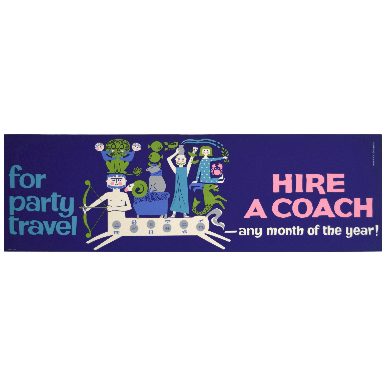 Original British 1960s Travel Panel Coach Poster, Padden