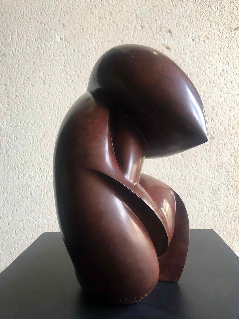 Bronze Original bronze sculpture by Dominique Pollès For Sale