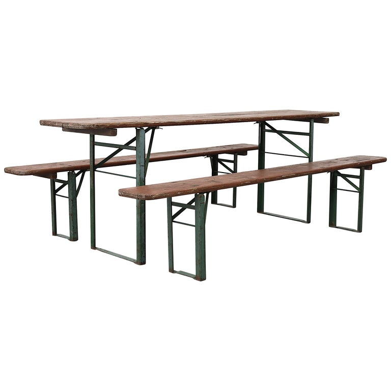 Surprising Original Brown German Beer Garden Table And Bench Set Ocoug Best Dining Table And Chair Ideas Images Ocougorg
