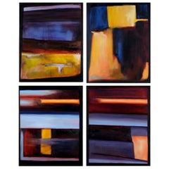 Original 'Bureau' Abstract Paintings by Amanda Rackowe