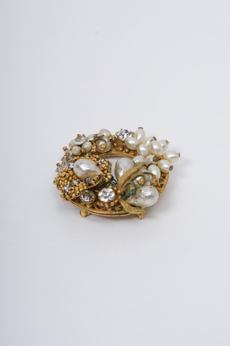 Original by Robert Pearl and Rhinestone Brooch/Pendant In Good Condition For Sale In Alford, MA
