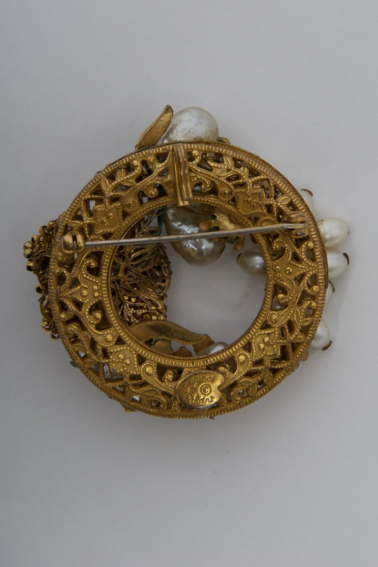 Original by Robert Pearl and Rhinestone Brooch/Pendant For Sale 1