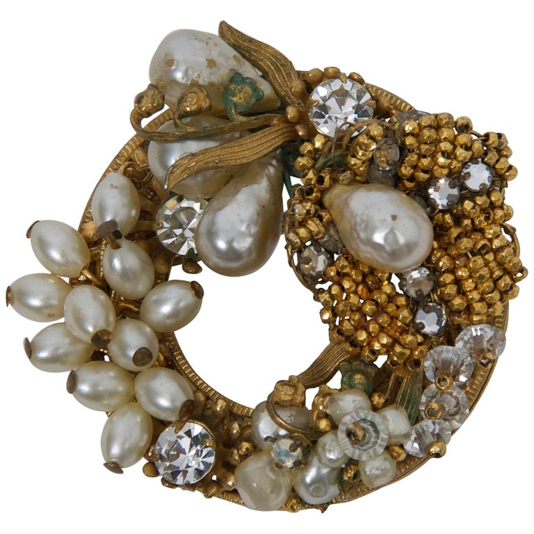 Original by Robert Pearl and Rhinestone Brooch/Pendant For Sale
