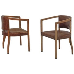 Original Carl Witzmann Pair of Chairs House Bergmann Jugendstil/Secession Style