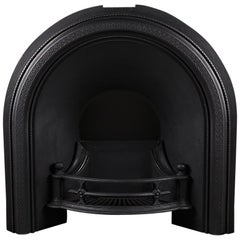 Original Cast Iron Arched Shaped Fireplace Grate, English 19th Century