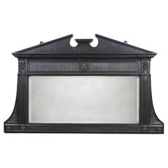 Original Cast over Mantel Mirror with Pediment, 20th Century