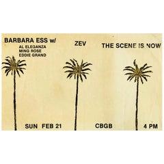 Original CBGB Club Flyer, circa 1979-1980, 'Vintage CBGB'