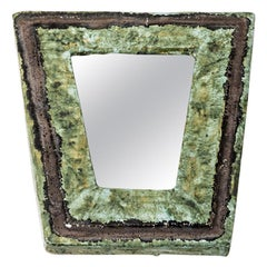 Original Ceramic Mirror Designed by Jean-Pierre Viot, 1969