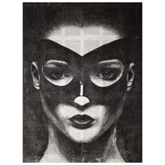 Original Charcoal and Acrylic Media by Kelly Devine, Titled Indispensable Power