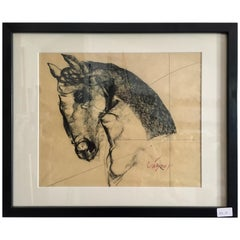 Original Charcoal Drawing by Mexican Artist Juan Carlos Cazares