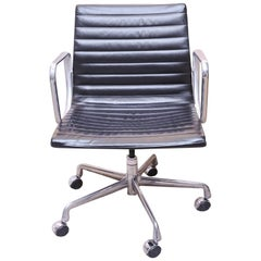 Original Charles & Ray Eames for Herman Miller EA335 Black Leather Swivel Chair