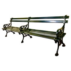 Original Charleston Battery Bench, Cast Iron and Lowcountry Cypress
