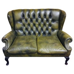 Original Chesterfield Sofa Queen Ann Modell in Green