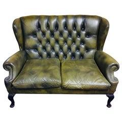 Original Chesterfield Sofa Queen Ann Modell in Green