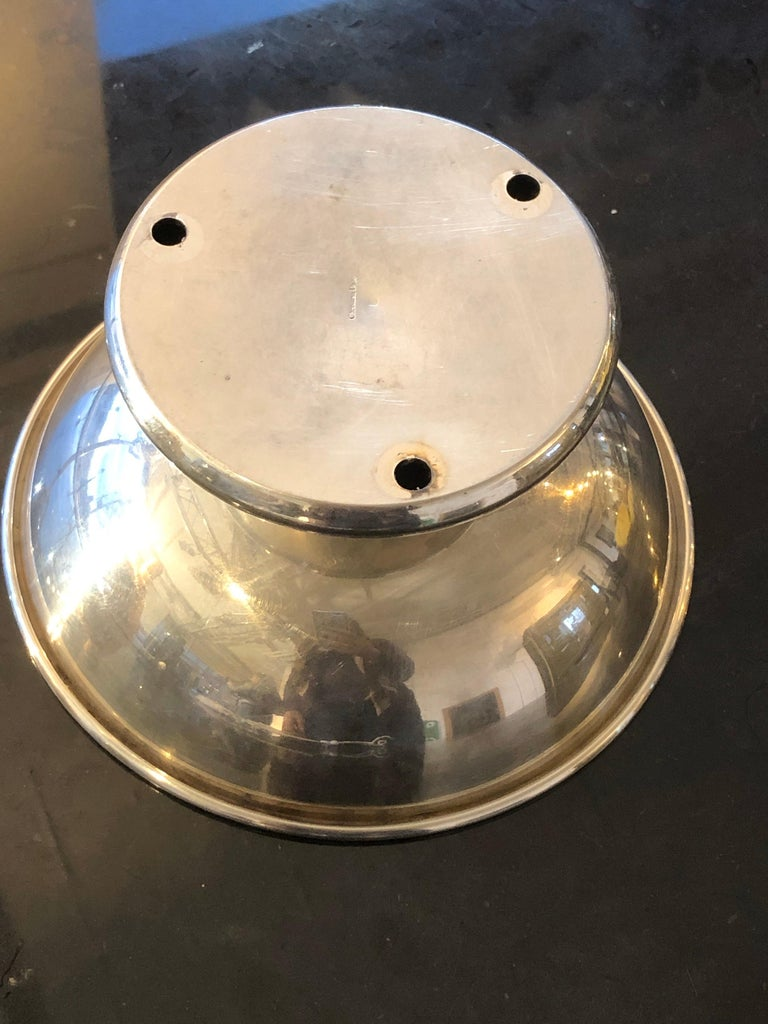 Original Christian Dior Bowl Centerpiece in Silver Metal Signed, 1950s For Sale 2