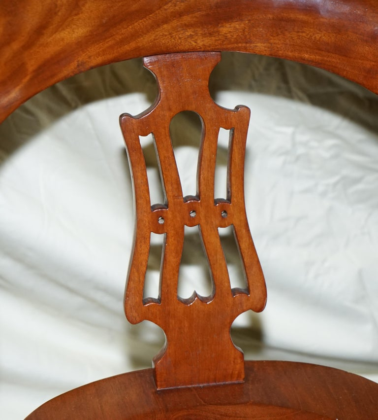 Porcelain Original circa 1860 Solid Walnut Sculptural Office Captains Directors Armchair For Sale