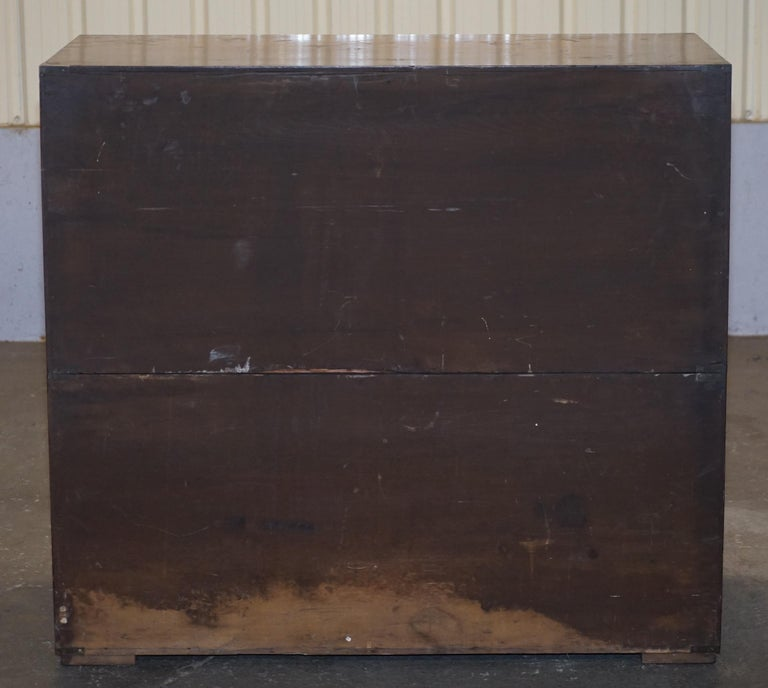 Original circa 1900 Army & Navy C.S.L Stamped Military Campaign Chest of Drawers For Sale 6