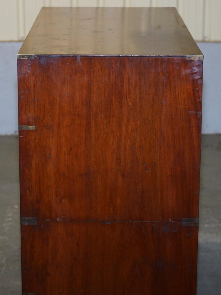 Original circa 1900 Army & Navy C.S.L Stamped Military Campaign Chest of Drawers For Sale 8