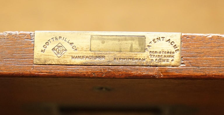 Original circa 1900 Army & Navy C.S.L Stamped Military Campaign Chest of Drawers For Sale 12