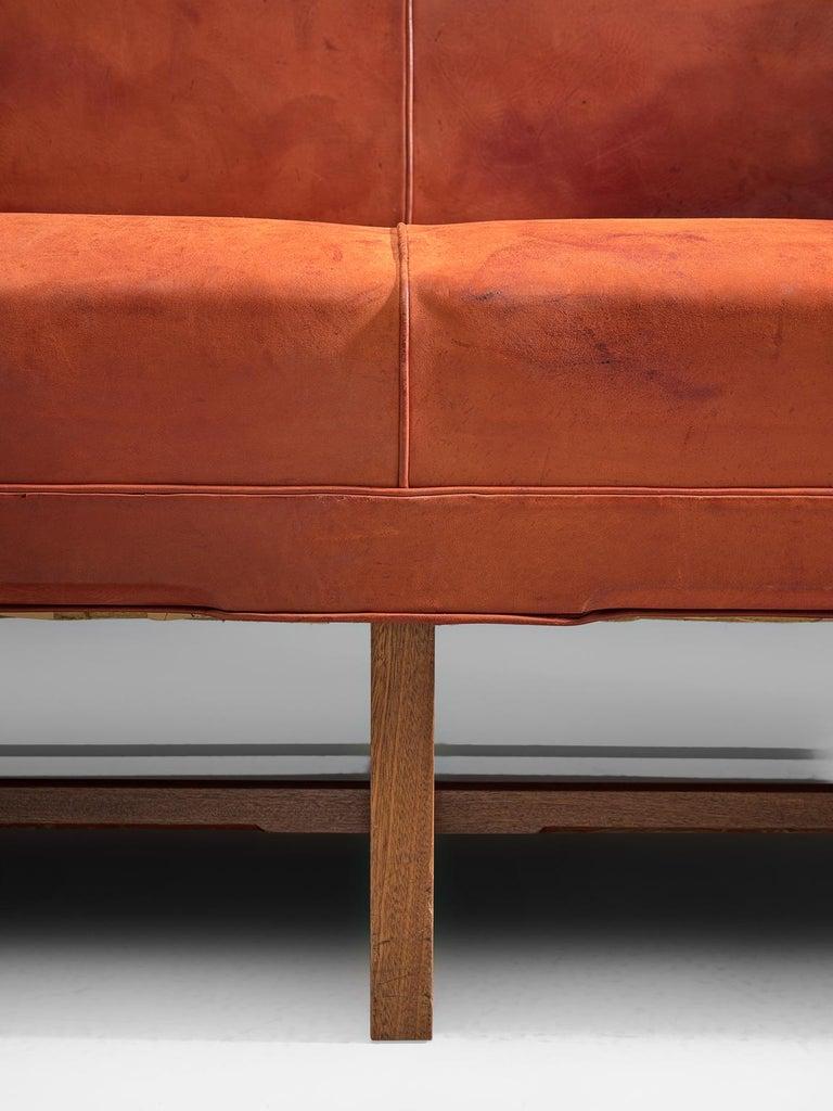 Original Cognac Leather Kaare Klint Sofa for Rud Rasmussen 1