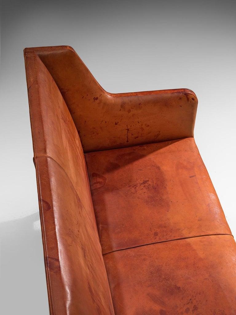 Original Cognac Leather Kaare Klint Sofa for Rud Rasmussen 2