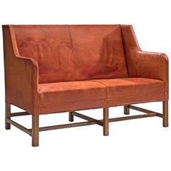 Original Cognac Leather Kaare Klint Sofa for Rud Rasmussen