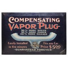 Original Compensating Vapor Plug Litho Advertising Sign