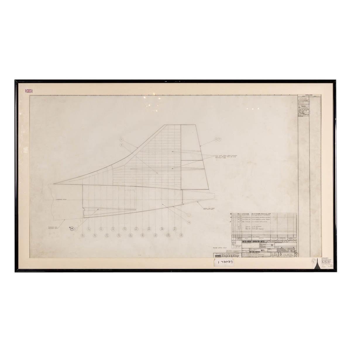 Original Concorde Design Drawing, England, c.1960