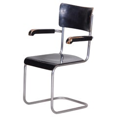 Original condition Czech Bauhaus Blackened plywood Armchair, 1930s, Wind and Co
