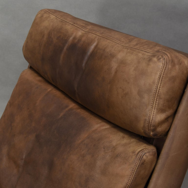 Original COR Full Leather Lounge Armchair by Reinhold & Hans Schröpfer, 1976 4