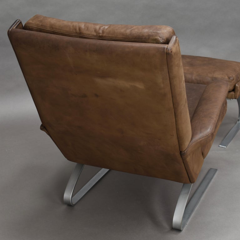 Original COR Full Leather Lounge Armchair by Reinhold & Hans Schröpfer, 1976 5