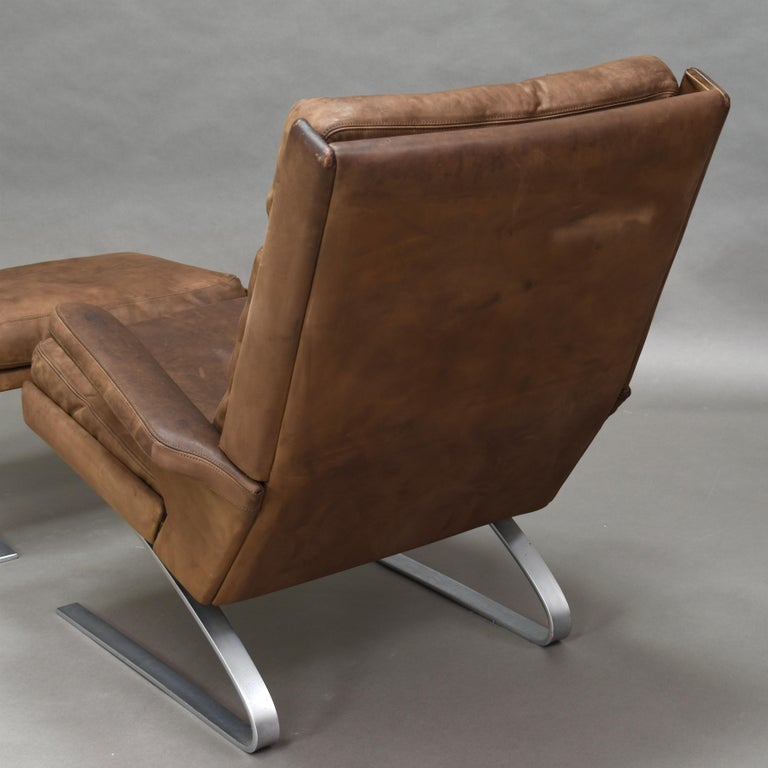 Original COR Full Leather Lounge Armchair by Reinhold & Hans Schröpfer, 1976 6