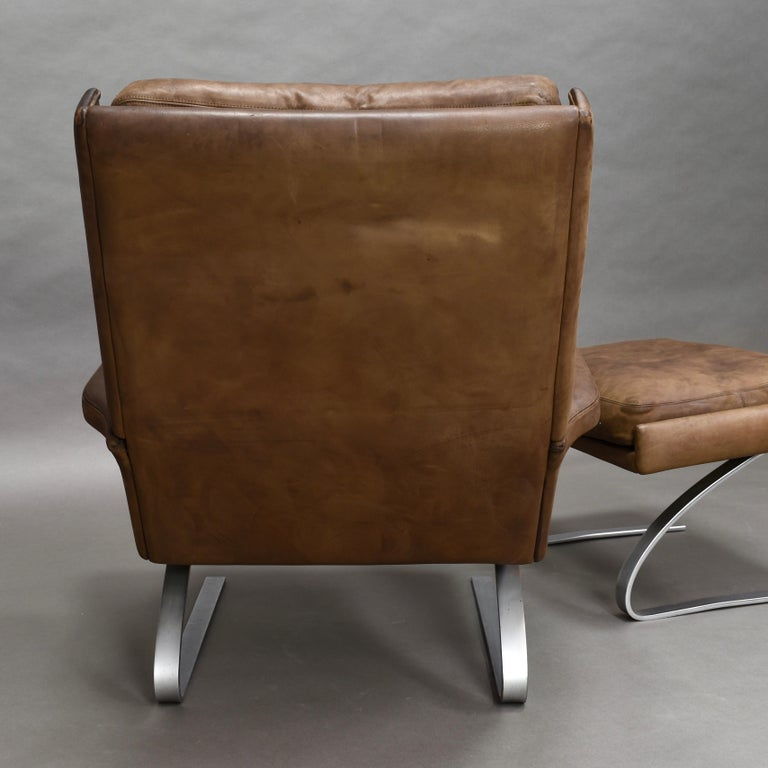 Original COR Full Leather Lounge Armchair by Reinhold & Hans Schröpfer, 1976 7
