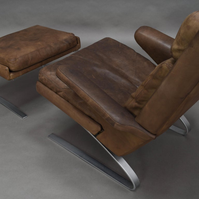 Original COR Full Leather Lounge Armchair by Reinhold & Hans Schröpfer, 1976 10