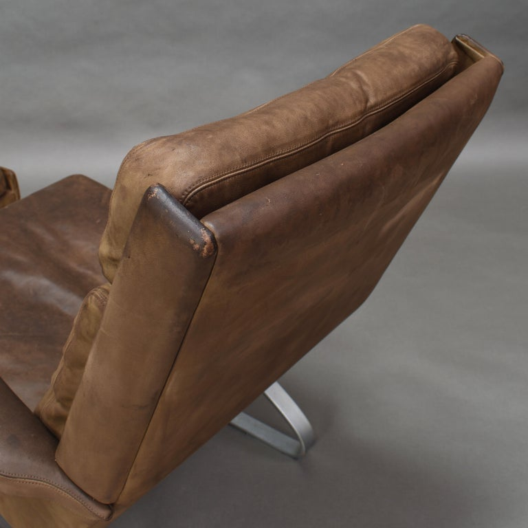 Original COR Full Leather Lounge Armchair by Reinhold & Hans Schröpfer, 1976 11
