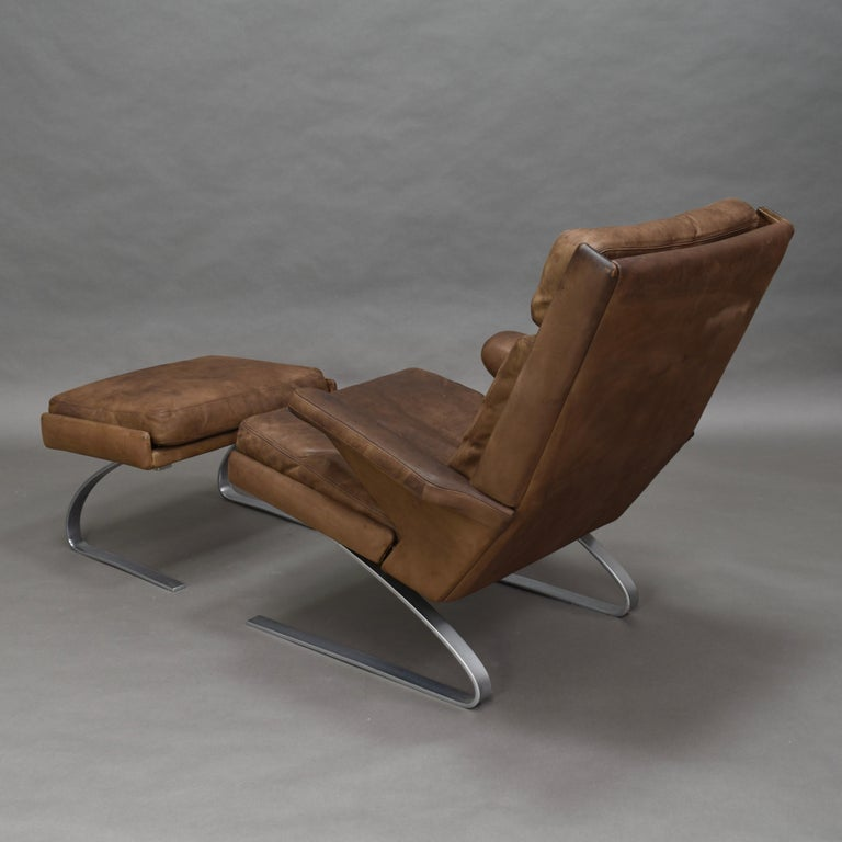 Original COR Full Leather Lounge Armchair by Reinhold & Hans Schröpfer, 1976 In Good Condition In Pijnacker, Zuid-Holland