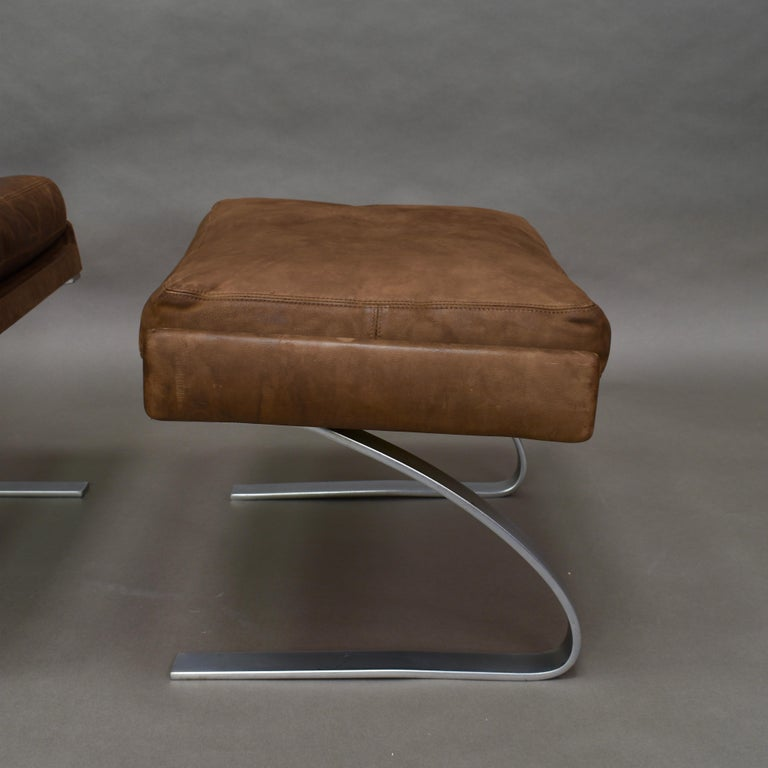 Original COR Full Leather Lounge Armchair by Reinhold & Hans Schröpfer, 1976 1