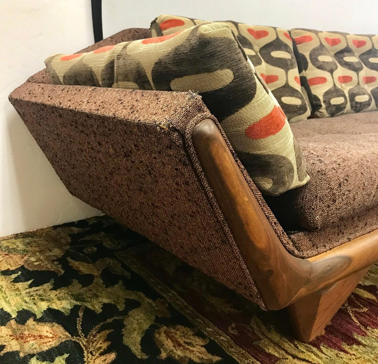 Craft Associates Adrian Pearsall Designed Famed Extra Large Gondola Sofa For Sale 3